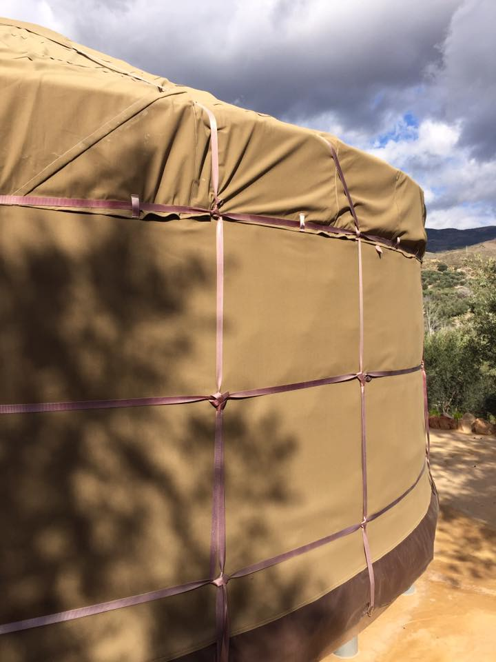 Sand colour canvas Glass Wall Yurt