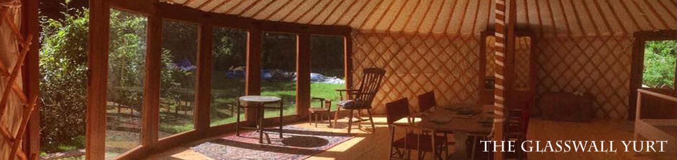 Glass wall yurts for the UK