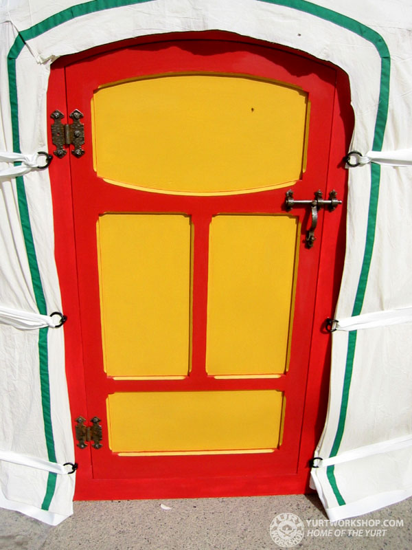 Yurt Workshop Painted Panel Doors