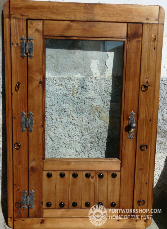 Yurt door with large window