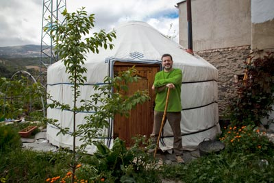 Yurt Specialist Rob Matthews outside his own yurt