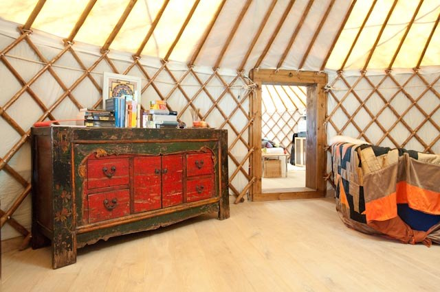 chestnut framed yurt