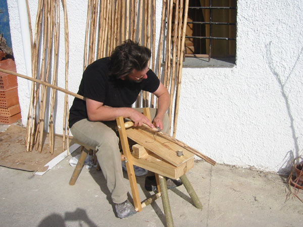 Traditional shave horse