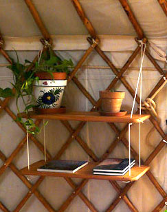 Yurt Shelves